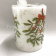 AMB.39110575 Mistletoe karácsonyi átvilágítós gyertya 12x10cm