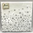 AMB.12508821 Sparkling Dots Silver papírszalvéta 25x25cm, 20db-os