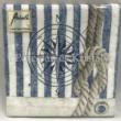 AMB.12510005 Compass And Rope papírszalvéta 25x25cm, 20db-os