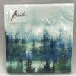 AMB.12511880 Forest Fog papírszalvéta 25x25cm, 20db-os