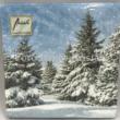 AMB.33305115 Trees in Snow karácsonyi papírszalvéta 33x33cm, 20db-os