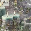 AMB.33312165 Blue Candles karácsonyi papírszalvéta 33x33cm, 20db-os