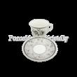 D.G.17663 Colin Porcelán csésze szett 6 személyes, 12 részes, díszdobozban