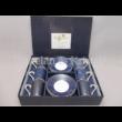 R2S.126CMAR Art Deco porcelán mokkacsésze szett 6 személyes, 12 részes, díszdobozban