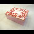 R2S.128POWP Rózsaszín virág porcelánbögre szett, 4 részes, díszdobozban