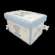 T.L.C.LP44755 Kék műbőr tárolódoboz Ellie elefánt, 21x35x24 cm