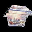 T.L.C.LP51076 Műbőr tárolódoboz Karácsonyi varázslat, 37x37x37 cm