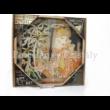D.I.19-27 Üveg falióra Mucha: Szőke nő, 2x30x30 cm