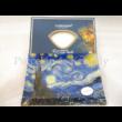 H.C.198-3002 Üvegtál Van Gogh: Csillagos éj 2x20x28cm