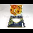 H.C.198-3207 Üvegtál Van Gogh: Napraforgók, 1,5x18x18 cm