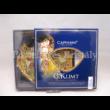 H.C.198-7022 Üvegtányér szett 2 részes Klimt: Adél-Csók, 3x21x24 cm