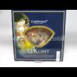 H.C.198-8081 Üveg süteményes kínálótál lapáttal Klimt: Csók, 2x25x25cm