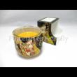 H.C.457-8202 Narancs-fahéj illatgyertya üvegben Klimt: Csók, 7,5x8 cm