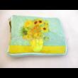 FRI.40537 Táska a táskában cipzáras, Van Gogh: Napraforgók, 52x39x13,5 cm