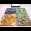 T.L.C.LP94454 Parafa poháralátét szett 4 db-os Van Gogh, 10x10 cm