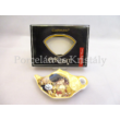 H.C.532-1501 Porcelán teafiltertartó Klimt: Csók, 1,5x8,7x13,3 cm