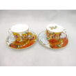 H.C.830-0706 Porcelán mini-mokka szett 2 részes, 4 darabos, Van Gogh: Napraforgók