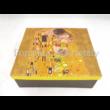 P.P.W3A15-24634 Porcelán váza 20x16x6 cm, Klimt: Csók