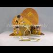 P.P.W3A34-15727 Porcelán Nonfiguratív mini-tea szett 2 személyes, 6 részes, Klimt: Csók