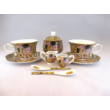 P.P.W5A26-15384 Porcelán mini-tea szett 2 személyes, 9 részes, Klimt: Csók