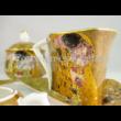 P.P.W6A67-14285 Porcelán Nonfiguratív mini-tea szett 2 személyes, 9 részes, Klimt: Csók
