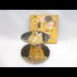 P.P.W7B13-12257 Porcelán süteményes kínáló 2 emeletes Klimt: Csók, 24x18 cm