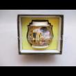 P.P.W8A87-19093 Porcelán cukortartó fedővel Klimt: Csók, 11,5x9 cm