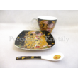 P.P.W8KL360-22406 Porcelán mini-tea 2 személyes, 6 részes, Klimt: Csók