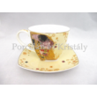 P.P.W9KL406-09169 Porcelán mini-mokka 2 személyes, 6 részes, Klimt: Csók