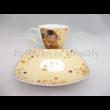 P.P.W9KL460-09275 Porcelán mini-tea szett 2 személyes, 6 részes, Klimt: Csók