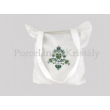 Bevásárló táska Jászszági, törtfehér-zöld 40x35x4,5cm