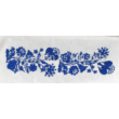 Buggyos táska Kalocsai, fehér-kék 30x35x25cm