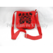 Kistáska Kalocsai, piros-fekete 18x16x6cm