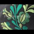 Sokzsebes válltáska Jászszági, fekete-zöld 30x33x9cm