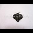 10448 Szív medál piros eosin, 2,5x2 cm