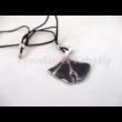 10594/8425 Ginkgo medál lila, 5x4 cm