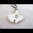 10594/8420 Ginkgo medál zöld, 5x4 cm