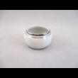 9100/3384 Szalvétagyűrű fehér-platina, 3,5x6,5 cm