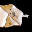 196/059 Hatszögű kínálótál búzavirágos, 3x21x21 cm