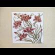 10513/3/0119 Falikép szegfűs, 15x15 cm