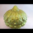 1275/1 Ománi bonbonier telt zöld eosin, 21x19 cm