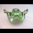 6658 Szecessziós bonbonier zöld eosin, 10,5x16,5x13,5 cm