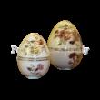 10369/2/026 Álló tojás bonbonier közepes pillangós, 9x6,5 cm