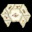 196/026 Hatszögű kínálótál pillangós, 3x21x19 cm