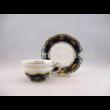 9335/6100 Mokkacsésze alj pompadour I., 2x15,5 cm
