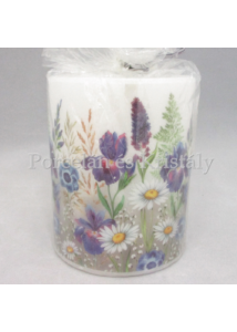 AMB.19113235 Mezei virágok átvilágítós gyertya 12x10cm