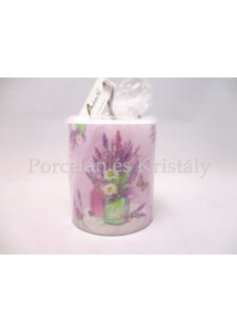AMB.19214000 Levendula vázában átvilágítós gyertya, lila 9x7,5 cm
