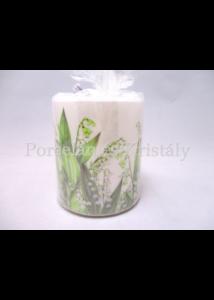 AMB.19214965 Gyöngyvirág átvilágítós gyertya 9x7,5 cm