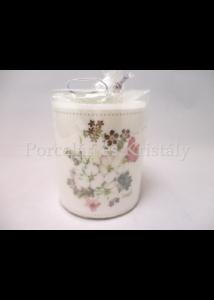 AMB.19215145 Réti virágok átvilágítós gyertya 9x7,5 cm
