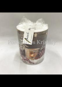 AMB.39111950 Birch Candlelight karácsonyi átvilágítós gyertya 12x10cm